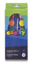Vodové barvy Coolty - 12 barev, průměr 28 mm