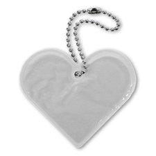 Reflexní přívěsek Srdce, stříbrná