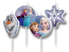 Dortové svíčky Frozen - 4 ks