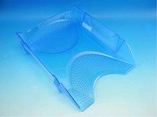 Zásuvka plastová modrá transparentní