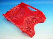 Zásuvka plastová  červená