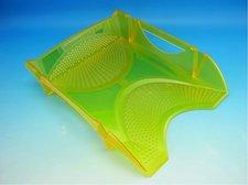 Zásuvka plastová žlutá transparentní