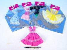 Šaty krátké pro panenky asst v sáčku