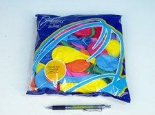 """Balonek nafukovací 8"""" pastelové 100ks v sáčku"""
