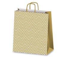 Dárková taška Geometric, 160 x 80 x 210 mm, zlatá