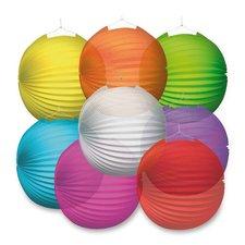 Papírový lampion Transparent - průměr 25 cm, mix barev