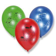 Nafukovací balónky Angry Birds Movie - 6 ks