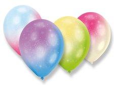 Nafukovací LED balónky - duhové - 4 ks