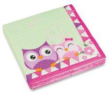 Ubrousky Happy Owl - 33 x 33 cm, 20 ks