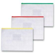 Kapsa FolderMate na zip - A4, transparentní, mix barev