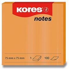 Samolepicí bločky Kores - neónové oranžové