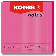 Samolepicí bločky Kores - neónové růžové