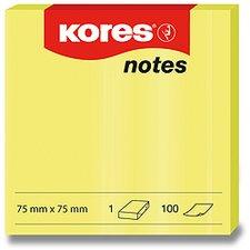 Samolepicí bločky Kores - neónové žluté