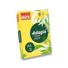 Barevný papír Rey Adagio - A4, 80 g, 500 listů, tmavě žlutý