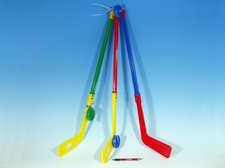 Hokejka plastová s pukem 74cm