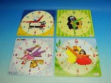 Dětské hodiny čtvercové barevné