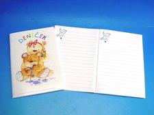 Deníček A6 212 1.-2.třída motiv medvídek
