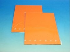 Barevný karton oranžový 160g 10ks