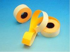 Cenové etikety 25x16 oranžové obdélníkové CONTACT