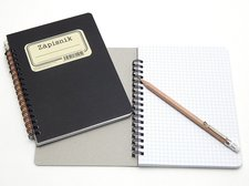 Zápisník Retro čtvereček 70 listů, B6 s tužkou /24954/
