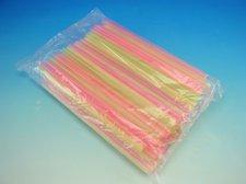 Slámky JUMBO neon 150 ks, 25 cm x 8mm