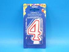 """Svíčka """"4"""" dortová 75 mm"""