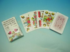 Karty Mariáš dvouhlavý mini, krajka