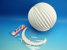 Lampion koule 25 cm, bílý