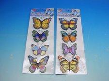 Samolepky pokojová dekorace Motýli s glitry