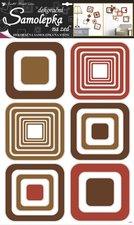 Samolepky pokoj. dekorace čtverce hnědé 70x42cm /1063/