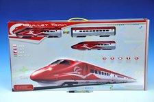 Vlak Bullet Train + dráha 1,63m + doplňky na baterie se zvukem se světlem