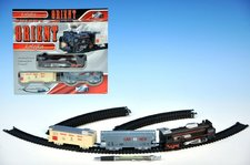 Orient Vlak + 2 vagony délka dráhy 210cm na baterie se světlem v krabici