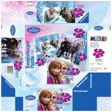 Puzzle Ravensburger  Ledové království  3 v 1  49 Dílků