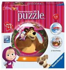 3D puzzle Ravensburger Puzzleball 72 dílků - Máša a medvěd
