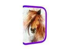 Penál 1 patrový s chlopní , vybavený - Kůň