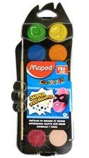 Vodové barvy Maped 12 barev