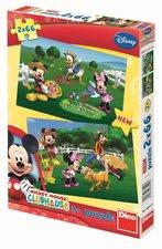 Puzzle Walt Disney Mickeyho Klubík 2x66 dílků