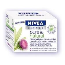 NIVEA VISAGE Pure&Natural denní krém 50ml proti vráskám