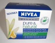 Nivea Visage Pure & Natural noční regenerační krém 50 ml všechny typy pleti