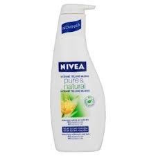 NIVEA tělové mléko 400ml Pure&Natural výživné pro velmi suchou pokožku