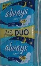 Always Ultra Night 2x7ks dámské vložky