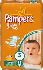 Plenky Pampers Sleep&Play 3 4-9kg 58ks