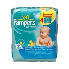 Pampers Ubrousky Baby Fresh Quattro 4x64ks