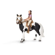 Schleich - Postroj na koně s jezdkyní