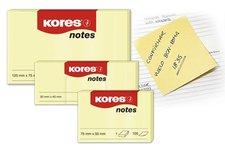 Samolepící bločky žluté KORES 75X75/100ks 46075