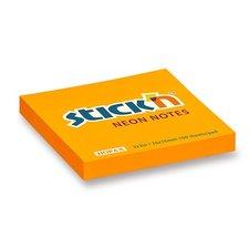 Samolepicí bloček Hopax Neon - 76 × 76 mm, oranžový