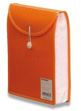 Aktovka na dokumenty Color Barkode - A4, vrchní plnění, oranžová