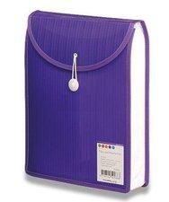 Aktovka na dokumenty Color Barkode - A4, vrchní plnění, fialová