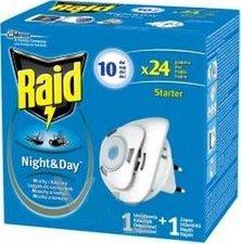 Raid Night a Day je elekt. odpařovač proti komárům a mouchám 1 strojek, 1 náplň