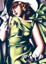 Puzzle EuroGraphics Lempicka Mladá dívka v zeleném 1000 d.